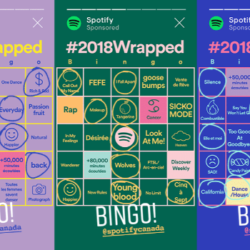 Un Wrapped Bingo signé Spotify