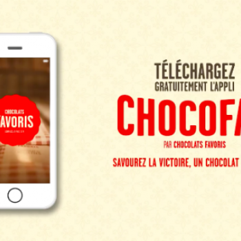 Lancement de l'application ChocoFan de Chocolats Favoris
