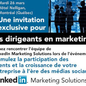 Conférence Solutions marketing de LinkedIn