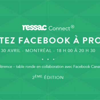 Ressac + Facebook Connect: Mettez Facebook à profit